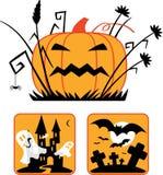 Coleção de Halloween ilustração do vetor