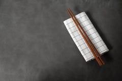 Coleção de hashis de madeira Imagens de Stock