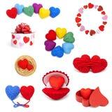 Coleção de Heartshape Foto de Stock