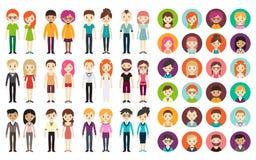 Coleção de homens e de mulheres diferentes Fotografia de Stock