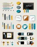 Coleção de Infographics Foto de Stock Royalty Free