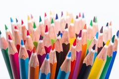 Coleção de lápis coloridos Fotos de Stock