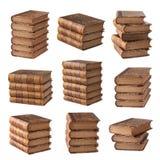 Coleção de livros antiga Fotografia de Stock