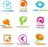 Coleção de logotipos abstratos   ilustração stock