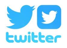 Coleção de logotipos de Twitter ilustração do vetor