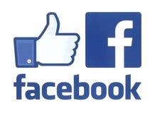 Coleção de logotipos do facebook fotografia de stock royalty free