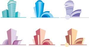 Coleção de logotipos dos bens imobiliários Foto de Stock Royalty Free