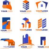 Coleção de logotipos e de ícones dos bens imobiliários Imagens de Stock Royalty Free