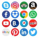 Coleção de logotipos populares do círculo ilustração stock