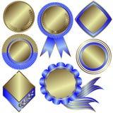 Coleção de medalhas prateadas ilustração do vetor