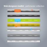 Coleção de menus da navegação Imagem de Stock