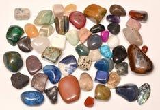 Coleção de minerais imagem de stock