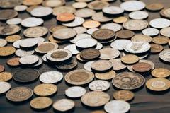 Coleção de moedas Imagem de Stock