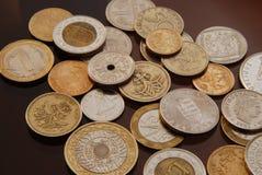 Coleção de moedas Imagens de Stock