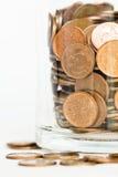 Coleção de moedas de um centavo canadenses Fotos de Stock