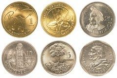 coleção de moedas guatemalteca do quetzal Imagens de Stock