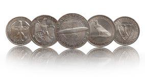 Coleção de moedas de prata alemão de Alemanha da república de Weimar imagem de stock royalty free
