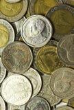 Coleção de moedas tailandesa Foto de Stock