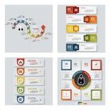 Coleção de 4 moldes coloridos da apresentação do projeto Fundo do vetor Imagem de Stock Royalty Free