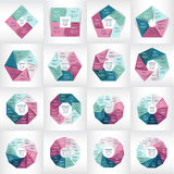 Coleção de moldes de Infographic para o negócio ilustração do vetor