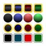 Coleção de moldes do ícone/tecla Foto de Stock
