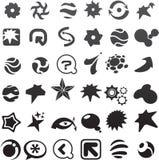 coleção de muitos ícones abstratos pretos - 6 ilustração stock