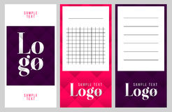 Coleção de notas do logotipo e do texto da amostra Fotos de Stock