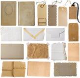 Coleção de notas marrons Fotos de Stock