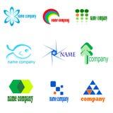 Coleção de nove ícones e símbolos Fotos de Stock Royalty Free