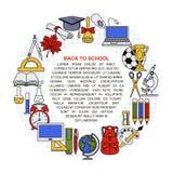 Coleção de objetos diferentes da escola Imagem de Stock
