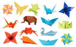 Coleção de Origami Fotografia de Stock Royalty Free