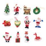 Coleção de ornamento do Natal Fotografia de Stock