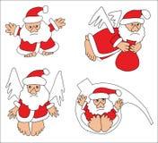 Coleção de Papai Noel Fotografia de Stock Royalty Free