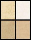 Coleção de papel da textura do vetor Foto de Stock Royalty Free
