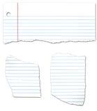 Coleção de papel Looseleaf rasgada Fotos de Stock