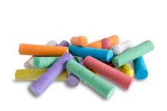 Coleção de pastéis coloridos brilhantes do giz Imagens de Stock Royalty Free