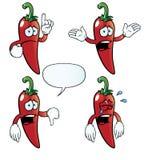 Grupo de grito da pimenta de pimentão Imagens de Stock