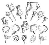 coleção de ponteiros do mapa ilustração do vetor
