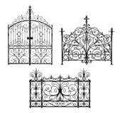 Coleção de portas forjadas e da estrutura decorativa Fotos de Stock Royalty Free