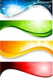 Coleção de quatro bandeiras ilustração stock