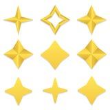 Coleção de quatro estrelas do ponto Fotos de Stock Royalty Free