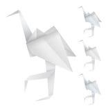 Pássaros de Origami ilustração royalty free
