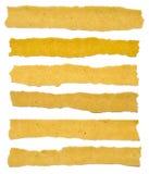 Coleção de rasgos do papel da textura de Brown Fotografia de Stock