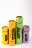 Coleção de rolos da moeda Fotografia de Stock Royalty Free