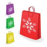 Coleção de sacos de compra Imagens de Stock Royalty Free