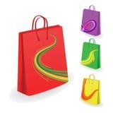Coleção de sacos de compra Fotos de Stock Royalty Free