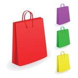 Coleção de sacos de compra Fotos de Stock