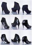 Coleção de sapatas da mulher Imagens de Stock