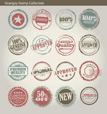 Coleção de selo circular Fotografia de Stock Royalty Free