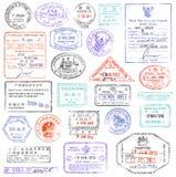 Coleção de selo de alta qualidade do passaporte do grunge ilustração do vetor